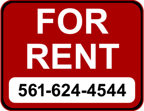 Homes For Rent by Martin Group flpalmbeach-com Sign 561-624-4544