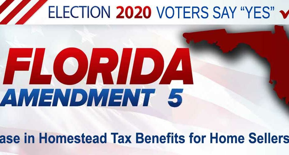 2020 Election Amendment 5 Homestead Sellers Blog FLPalmBeach Martin Group Image 1200x500