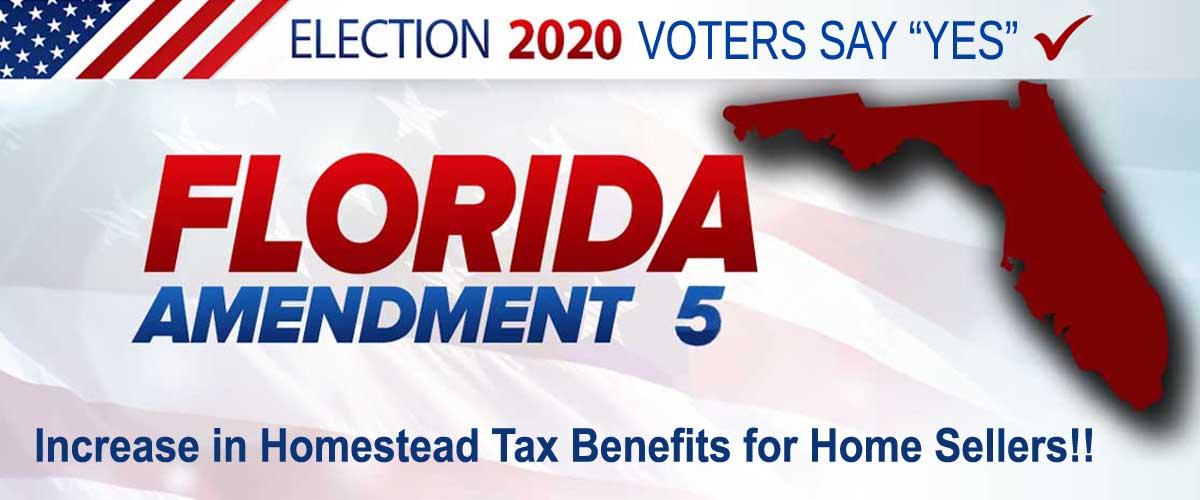 2020 Election Amendment 5 Homestead Sellers Blog FLPalmBeach Martin Group Image 1200x500