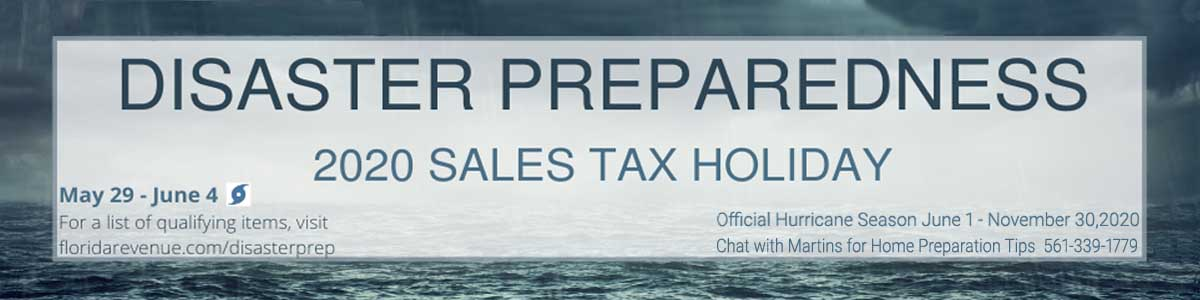 Disaster Hurricane Preparedness No Tax Page Banner FLPalmBeach Martin Group Real Estate1200x300 Image