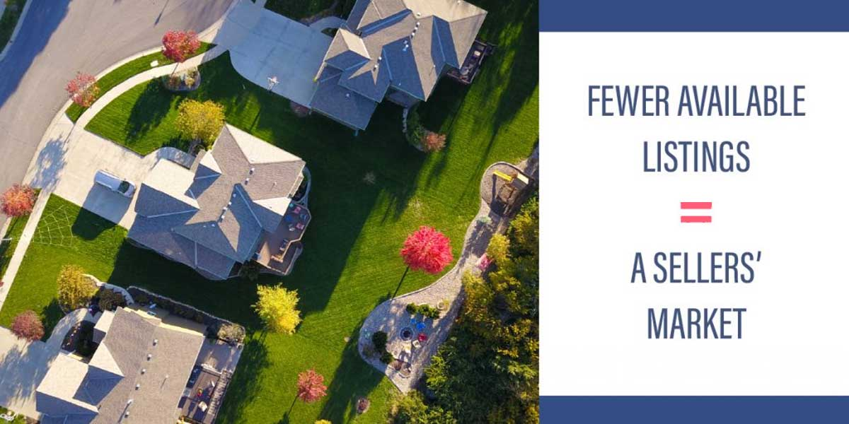 Fewer Available Listings Equals Sellers Market Image