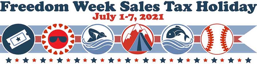 Florida Freedom Week July 1-7, 2021 Salex Tax Free Blog Banner