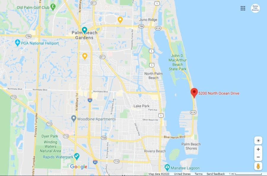 Google Map 5200 N Ocean Dr #102 Singer Island FL 33404 Corniche Condo For Sale