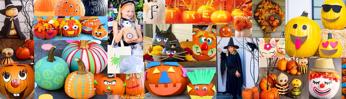 Halloween Pumpkin Collage Featured Image Blog