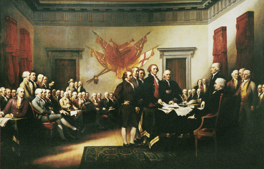 John Trumbull Signing the Declaration of Independence Painting July 4, 1776