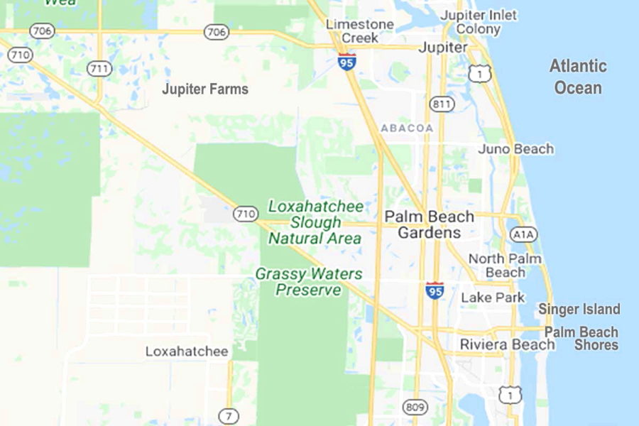 Northern Area of Palm Beach County FL Cities Map FLPalmBeach Martin Group Real Estate Homes For Sale