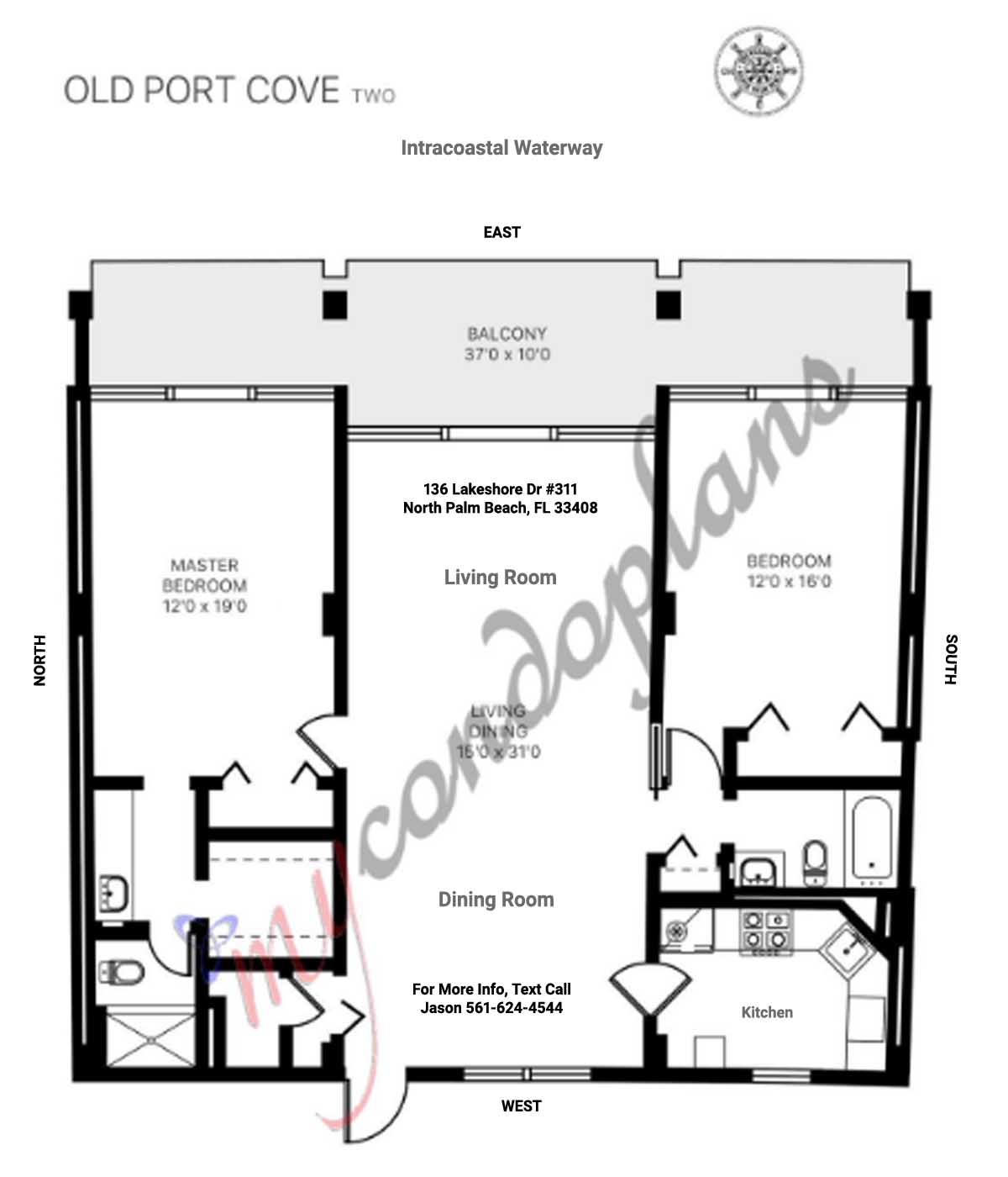 Old Port Cove 136 Lakeshore Dr Floor Plan FLPalmBeach Martin Group Real Estate