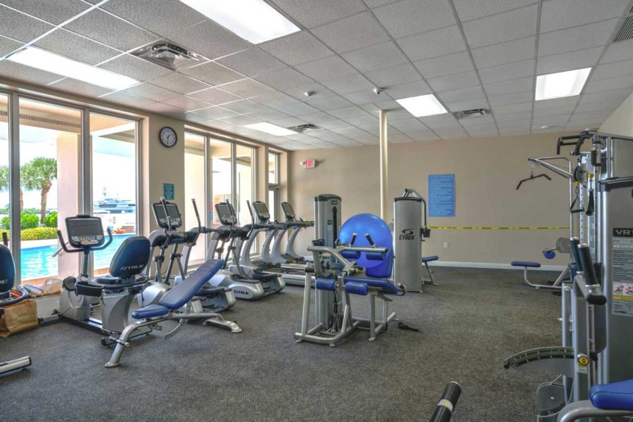 Old Port Cove Condo Building Gym FLPalmBeach Martin Group Real Estate Image