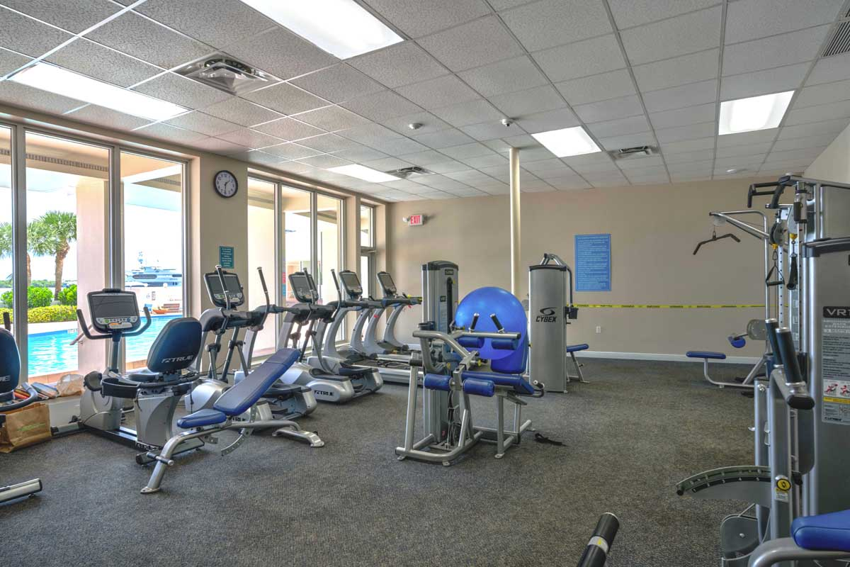 Old Port Cove Condo Building Gym FLPalmBeach Martin Group Real Estate Image