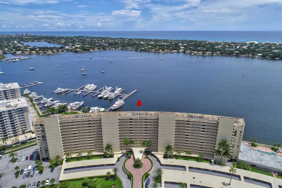 Old Port Cove Condo Building Intracoastal Marina East View From Balcony FLPalmBeach Martin Group Real Estate Image