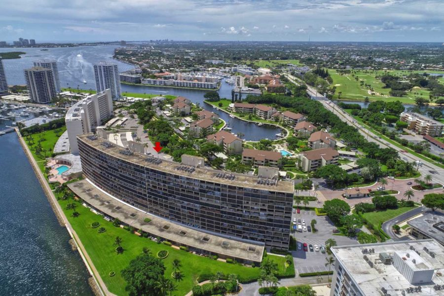 Old Port Cove Condo Building Intracoastal Marina South View FLPalmBeach Martin Group Real Estate Image