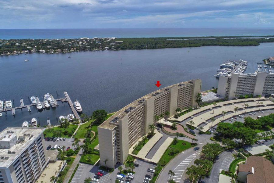 Old Port Cove Condo Building Intracoastal Marina2 East View From Balcony FLPalmBeach Martin Group Real Estate Image