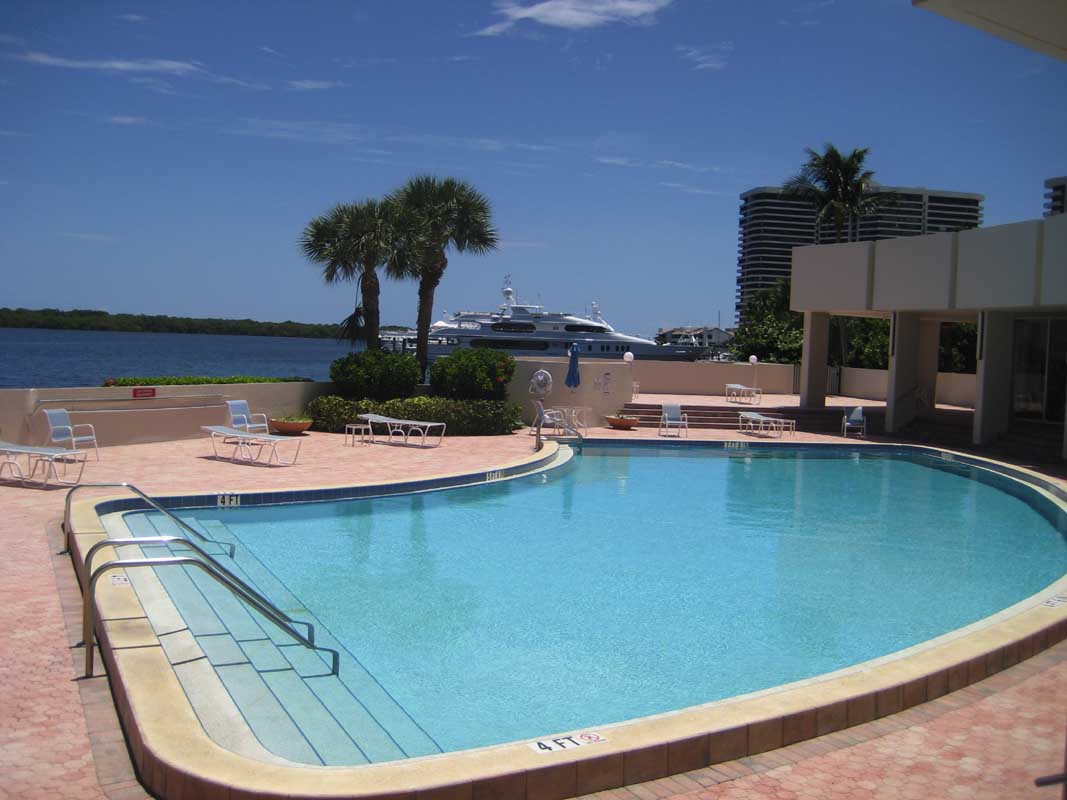 Old Port Cove Condo Pool-2 Intracoastal Waterway View FLPalmBeach Martin Group Real Estate Image