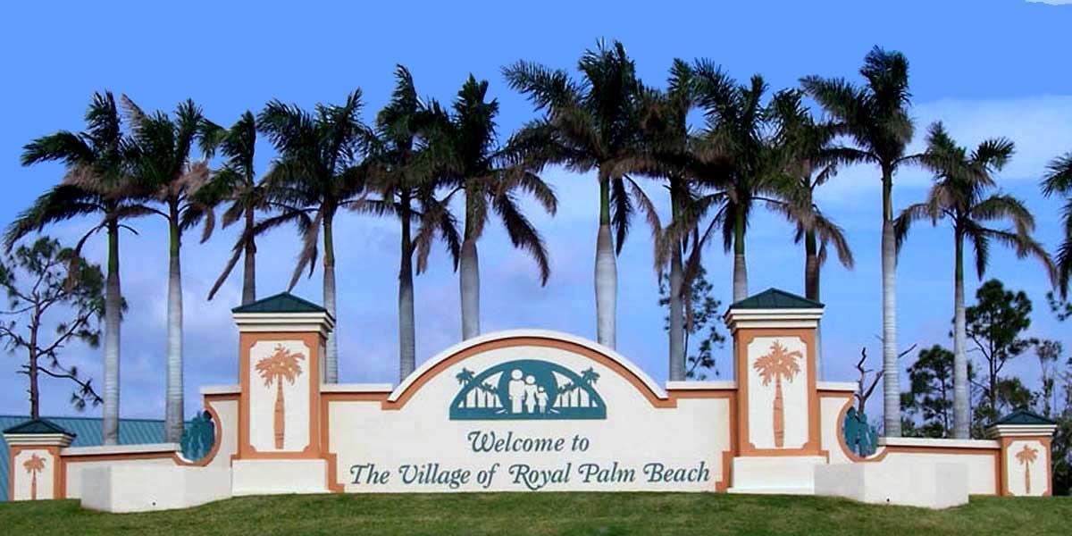 Royal Palm Beach Village Sign flpalmbeach Martin Group Real Estate