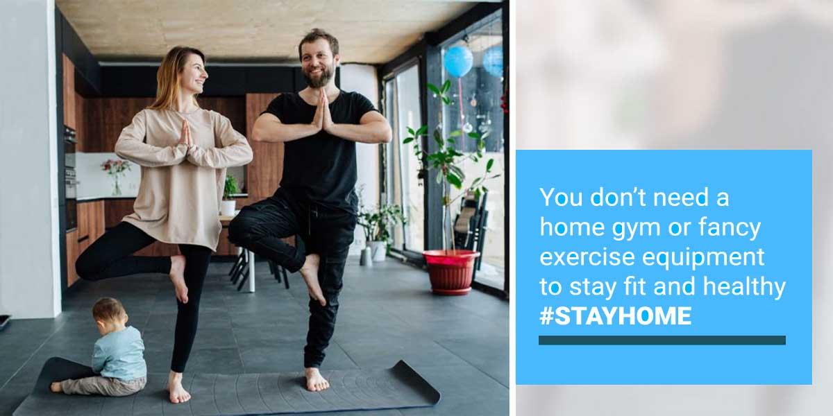 Stay Home Coronavirus Tips Exercise 1200x600