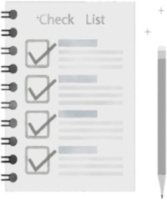 Check List Clipart Pad Pencil 500x600 Image