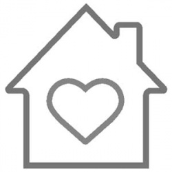 house heart outline clipart 300x300 image